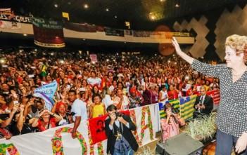 Brasília - DF, 10/05/2016. Presidenta Dilma Rousseff durante cerimônia de abertura da 4ª Conferência Nacional de Política para as Mulheres. Foto: Roberto Stuckert Filho/PR