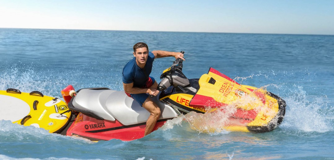 Zac Efron on the set of the film BAYWATCH by Paramount Pictures, Montecito Picture Company, FlynnPicture Co., and Fremantle Productions