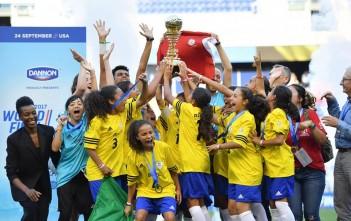 Time Sub 12 do Brasil foi campeão da Copa Danone, realizada nos EUA. Foto: Divulgação