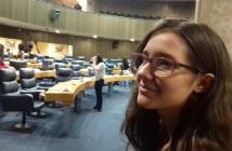 A estudante Mainá Cristina foi selecionada no Parlamento Jovem