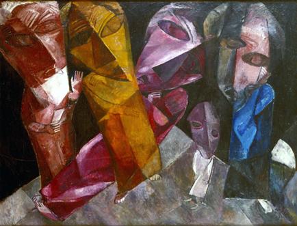 Lasar Segall Eternos Caminhantes, 1919.  Óleo sobre tela, 138 x 184 cm.  Confiscada do Museu de Dresden, participou de várias edições da Exposição de Arte Degenerada.  Acervo Museu Lasar Segall/Ibram/MinC