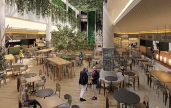 Praça de Alimentação terá muito verde, corredor com conceito aberto e diferentes formatos e composições de mesas
