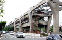 Futura Estação Brooklin Paulista, do monotrilho (linha ouro - 17, do metrô, em elevado)