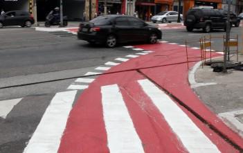 Desde 2014, a ciclovia seguia um desvio pelas ruas Madre Cabrini, Coronel Lisboa e Boninas