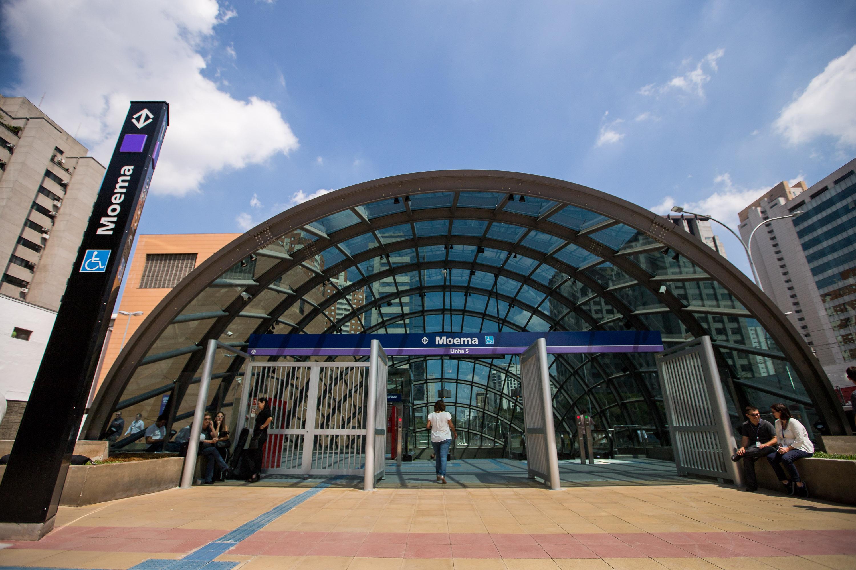 Estação Moema, da Linha 5–Lilás do Metrô